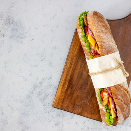 sandwich with salad bacon-tomatoes cheese