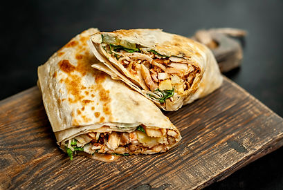 wrap with chicken vegetable