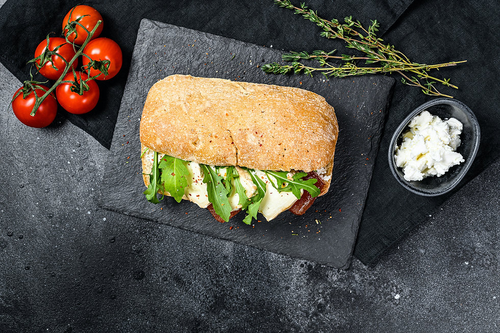 ciabatta sandwich with fresh goat cheese
