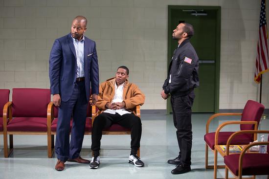 Morocco Omari as Xavier, Namir Smallwood as Omari and Jaime Lincoln Smith as Dun.
