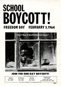 A flyer for the boycott against school segregation.