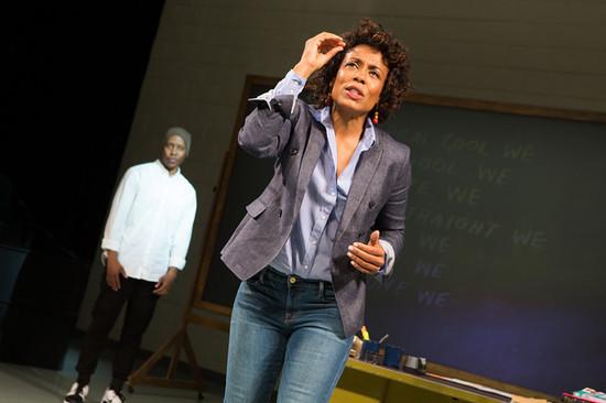 Namir Smallwood as Omari and Karen Pittman as Nya.