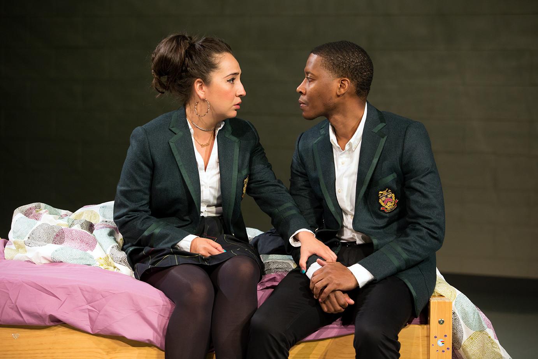 Heather Velazquez as Jasmine and Namir Smallwood as Omari.