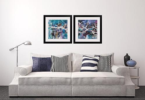 Blue Depths Framed Prints