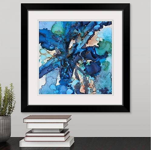 Blue Confession Framed Print