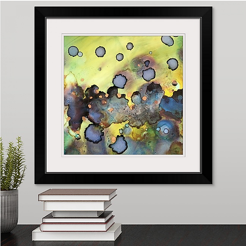 Golden Green Framed Print
