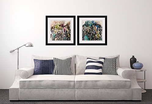 Teal Treasure Framed Prints