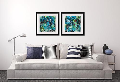 Ruby Blue Framed Prints