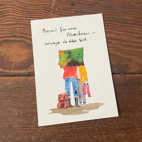"Postcard ""Abenteuer"""