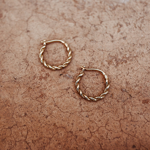 Twisted Earrings Gold