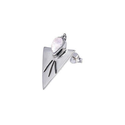 Triangle Moonstone Earring