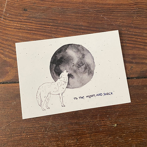 "Postcard ""To the moon..."""