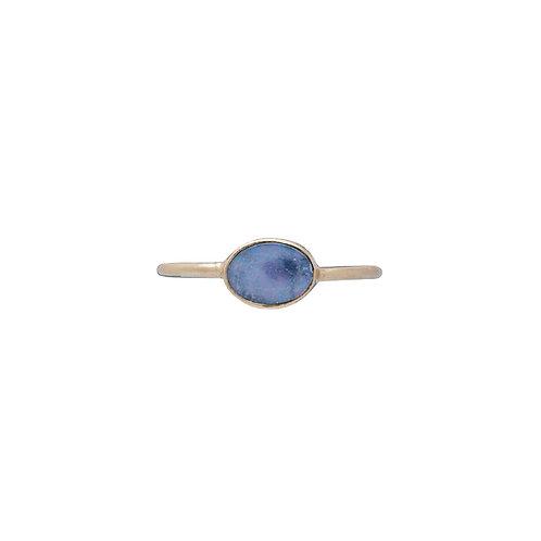 Blue Opal Ring Gold