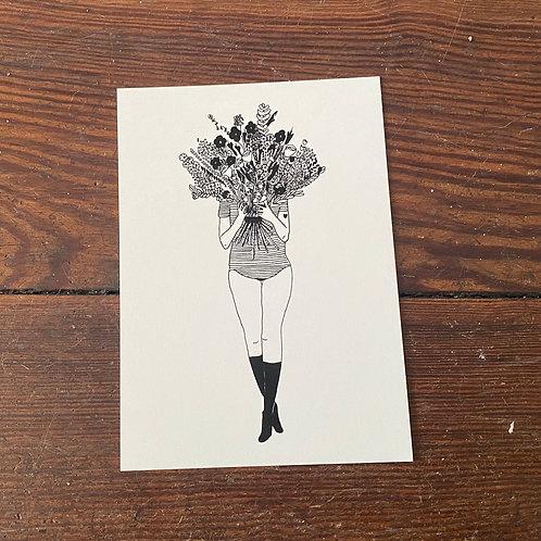 "Postcard ""Flowergirl"""