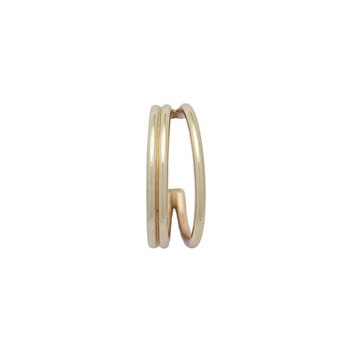 Double Band Earrings Gold