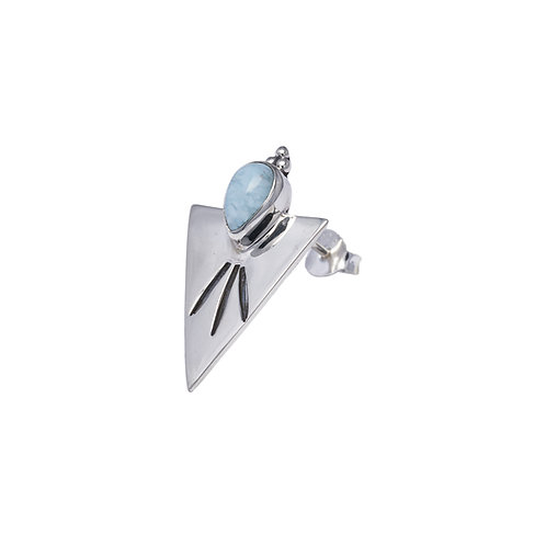 Triangle Larimar Earring