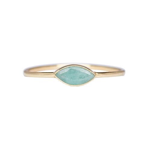 Green Eye Ring Gold