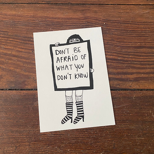 "Postcard ""Don´t be afraid..."""
