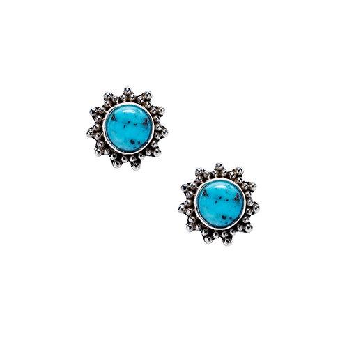 Turquoise Sun Earrings