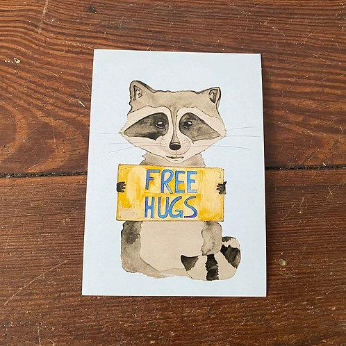 """Postcard """"Free Hugs"""""""