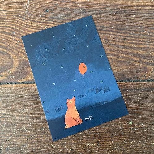 """Postcard """"Mist."""""""