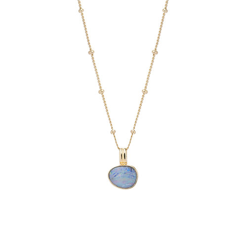 Opal Necklace Gold