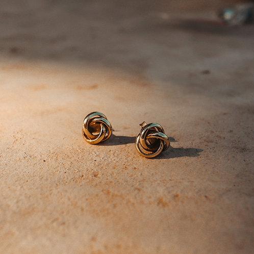 Knots Earrings Gold