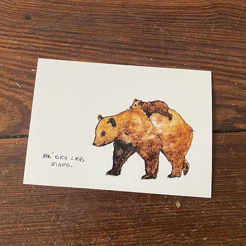 """Postcard """"Mama"""""""