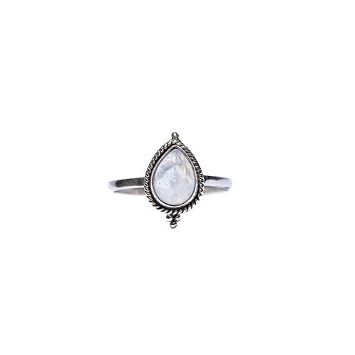 Moonstone Leaf Ring