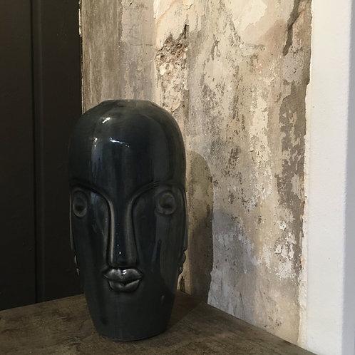 """""""Faces"""" Vase blau"""