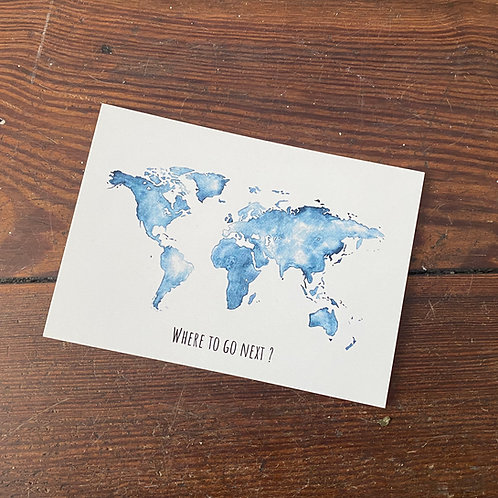 "Postcard ""Where to go next"""