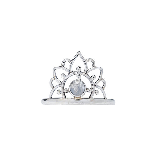 Moonstone Mandala Ring