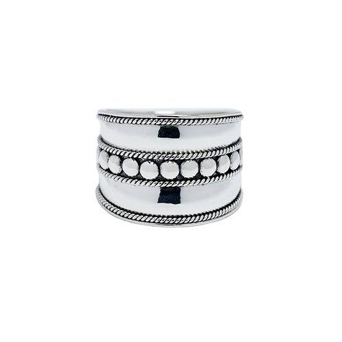 Fancy Big Silver Ring
