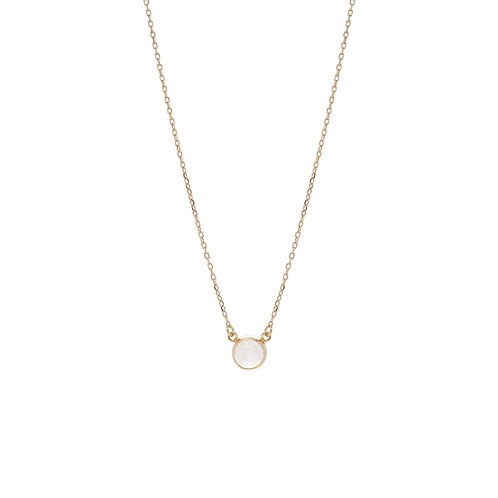 Little Moonstone Necklace Gold
