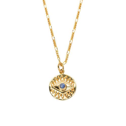Eye Moonstone Necklace Gold