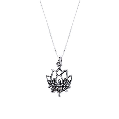 Long Lotus Necklace