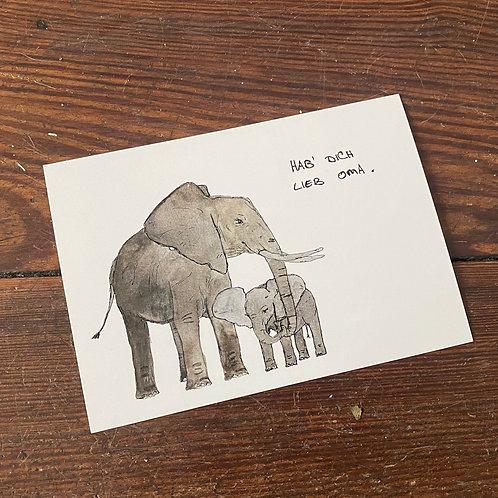 """Postcard """"Oma"""""""