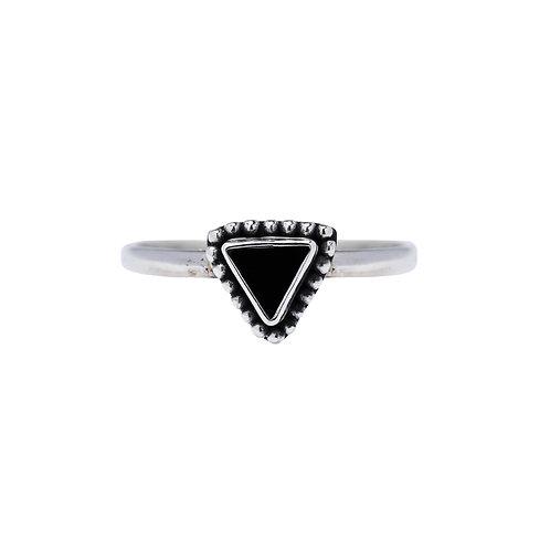 Black Triangle Ring