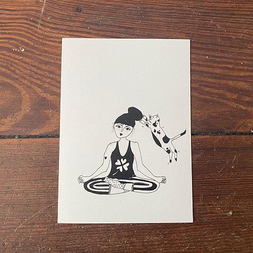 "Postcard ""Catlady"""