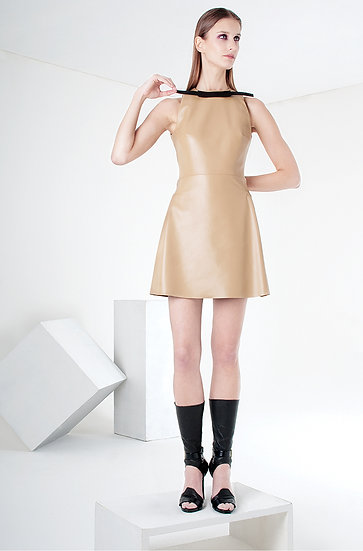 MOUSTACHE MINI-DRESS (leather)