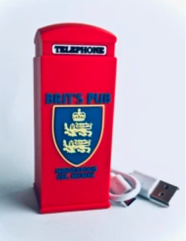 Replica UK Red Phone Booth - Back