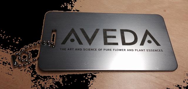 Aveda Metal Luggage Tags