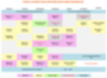 Yoga Union Class Schedule