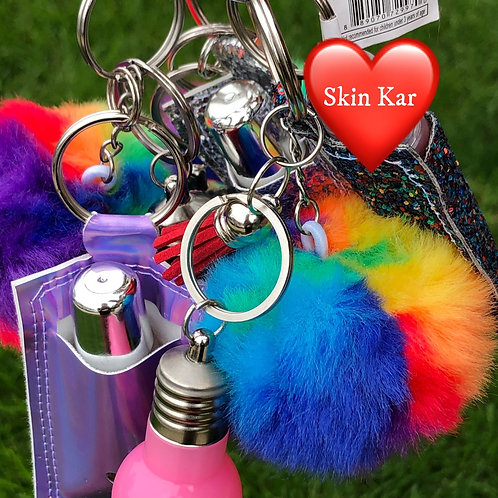 Light Up Ciré Lip Keychain