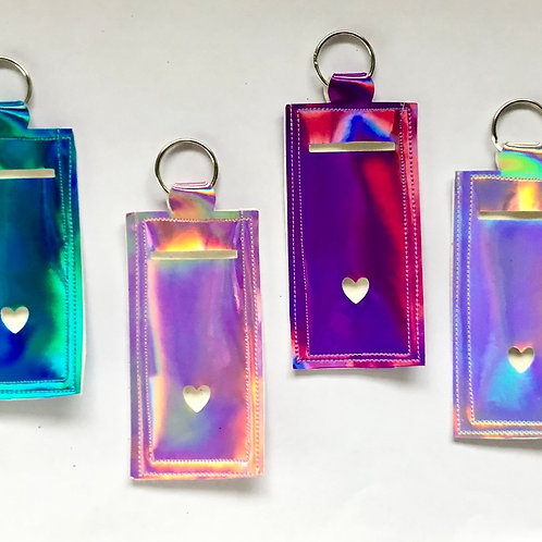 Holographic Lipgloss Keychain Holder