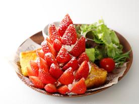 料理撮影 苺のフレンチトーストの撮影(調理代行)