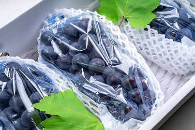 Wine grape in packaging isolated on whit