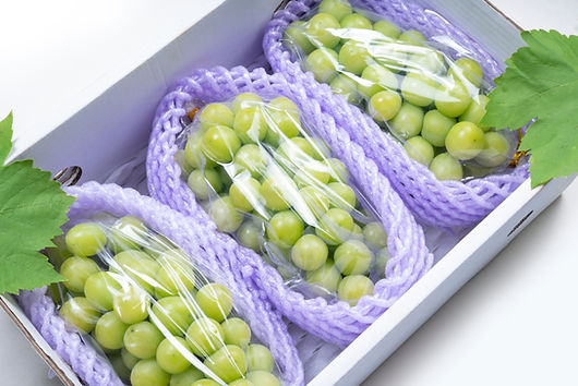 Sweet Green grape in packaging ready to