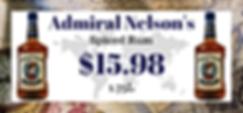 Admiral Nelson Rum sale flyer