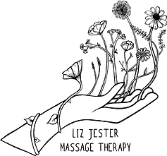 Liz Jester Massage Therapy Logo - Black.